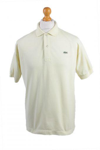Men Lacoste Polo Shirt 90s Retro Yellow Size XXL