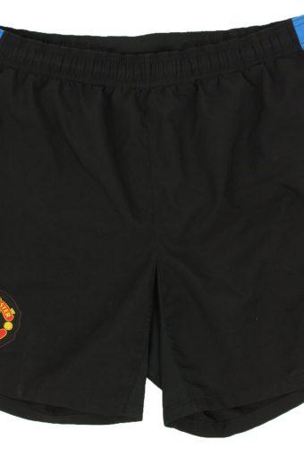 Nike Mens Sport Short Manchester United Football Vintage Size M  Black