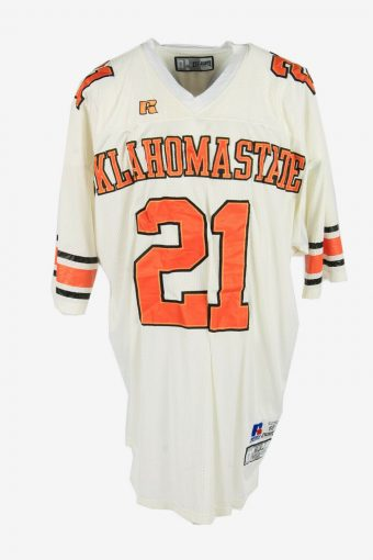 Russel Athletic Oklahomastate Sanders 21 Apparel Shirts White Size XXL