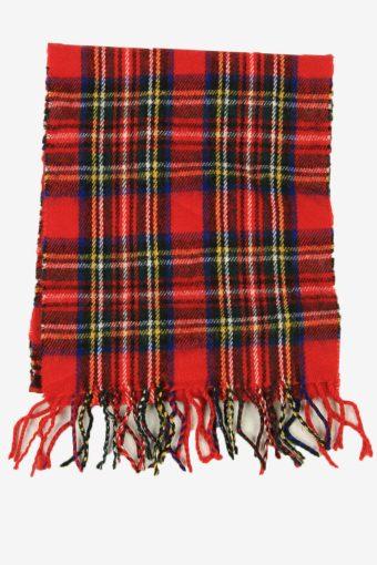 Tartan Scarf  Vintage Check Classic Tassel Soft Winter 90s Retro Red