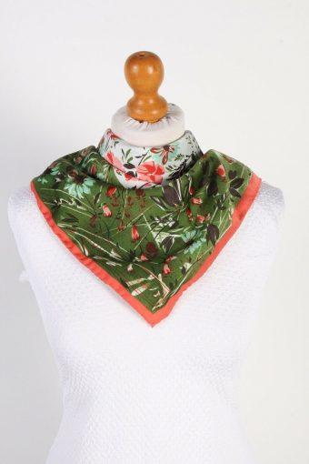 Terital Montefibre Floral Printed Womens Scarf Vintage Multi Coloured