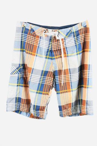 Vintage Beach Loud Bermuda Holiday Hawaiian Check Shorts Multi Size