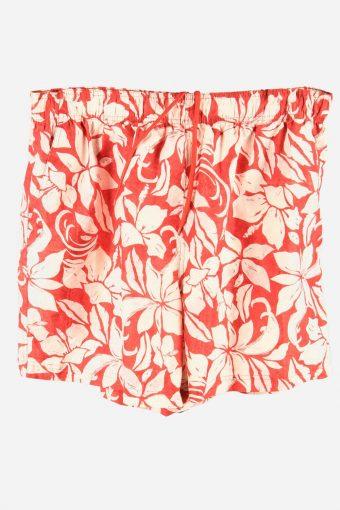 Vintage Beach Loud Bermuda Holiday Hawaiian   Floral Shorts Red Size XL