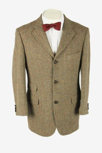 Vintage Harris Tweed Blazer Jacket Herringbone Country Weave Multi Size M