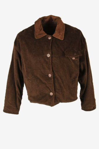 Vintage Reversible Corduroy Coat Jacket Blanked Lined 90s Brown Size M
