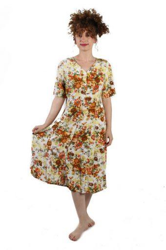 Zimm Mode Floral Short Sleeve Maci Vintage Dress Size XL