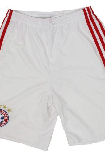 Adidas Boys Short Elasticated FC Bayern Munchen Vintage 13-14 Year White