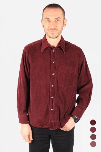 Corduroy Shirts Collar Long Sleeves Casual 90s