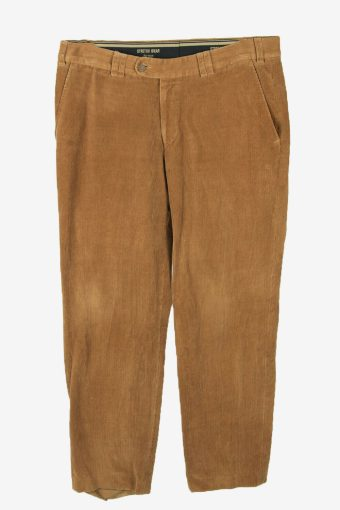Corduroy Cord Trousers Vintage straight Smart Casual Camel Size W34 L31