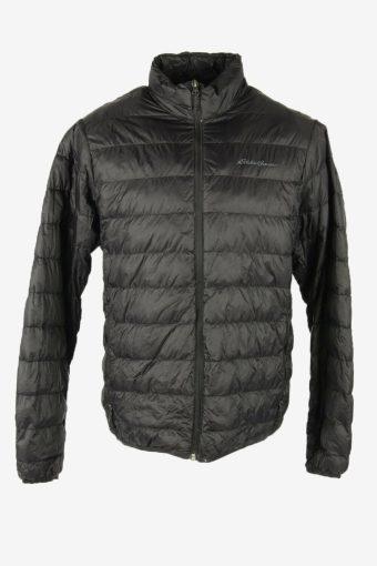 Eddie Bauwer Vintage Puffer Jacket Lined Pockets 90s Retro  Black Size M
