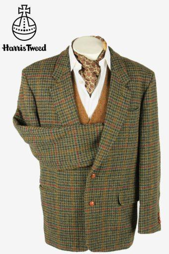 Harris Tweed Vintage Blazer Jacket Check Windowpane Weave Multi Size XL