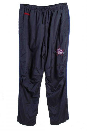 Kiabi Casula Men Tracksuits Bottom Striped Vintage Size XL Navy