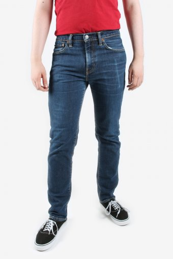 Levis 511 Jeans Slim Fit Zip Fly Mens Riverted Denim