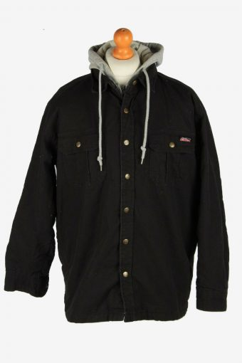 Mens Dickies Insulated Overshirt Jacket Vintage Retro Black Size L