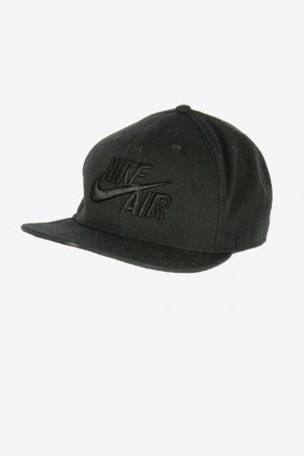 Nike Sport Cap Adjustable Snapback Headwear 90s Vintage Retro Black