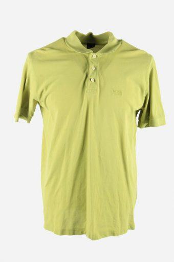 Polo Shirts Hugo Boss Pique Tshirt Golf  Vintage Men Light Green Size L