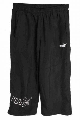 Puma Tracksuits Bottom Capri Casual Sportswear Men Vintage Size S Black