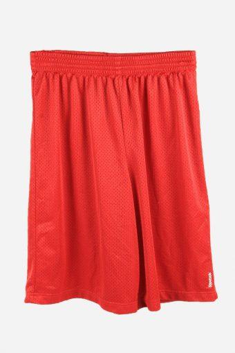 Reebok Basketball Shorts Running Activewear Trainning Shorts 90s Red XL