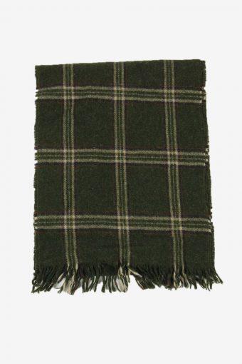 Tartan Scarf  Vintage Check Tassel Soft Winter 90s Retro Green