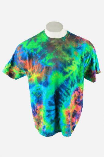 Tie Dye T-Shirt Top Tee Music Festival Retro Rainbow  Men Multi Size XXL