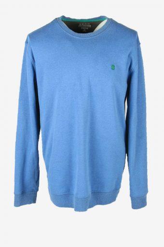 Vintage 90s Sweatshirt Plain Pullover Sports Retro Blue Size XL