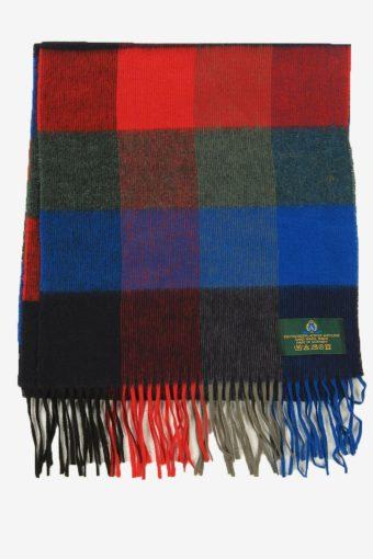 Vintage Check Tartan Neck Warmer Scarf Winter Soft  90s Retro Multi