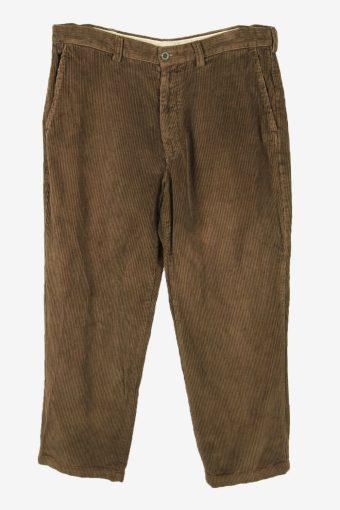 Vintage Corduroy Cord Trousers Loose Smart Casual Khaki Size W36 L30