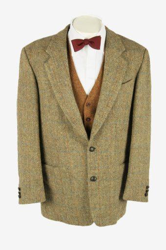 Vintage Harris Tweed Blazer Jacket Windowpane Country Weave Multi Size L