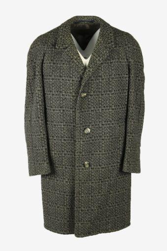 Vintage Wool Coat Jacket Classic Suit Winter Coat Multi Size XXL