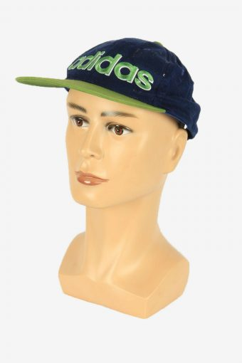 Adidas Baseball Cap Adjustable Snapback Headwear Vintage Retro Navy