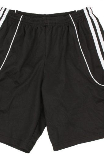 Adidas Mens Sports Short 3 Stripes Elasticated Vintage Size S Black