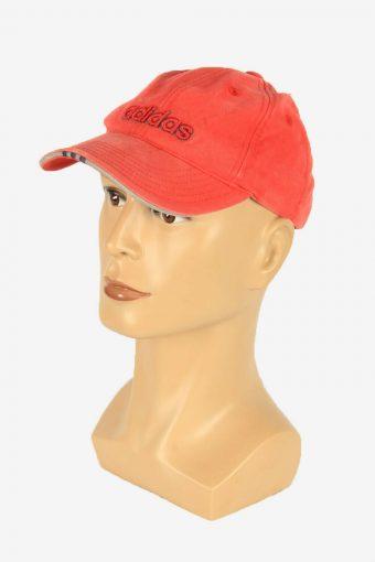 Adidas Sport Cap Adjustable Snapback Headwear 90s Vintage Retro Red
