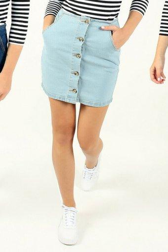 Ex New Look Womens Denim Mini Stretch Ladies Skirts Summer Party S, M, L, XL