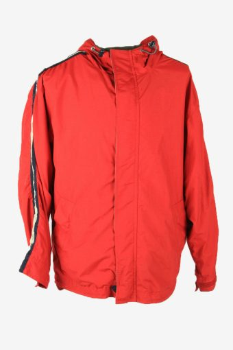 Gap Vintage Outdoor Jacket Hooded Lined Waterproof Pockets Red Size M
