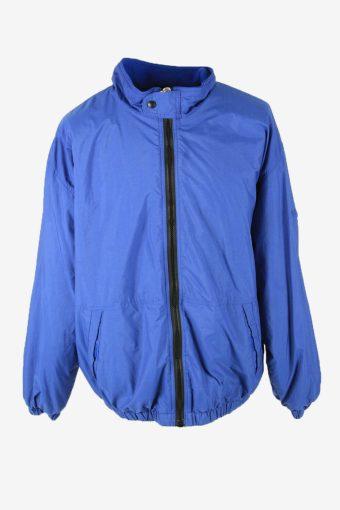Gap Vintage Outdoor Jacket Lined Pockets Winter Warm 90s Blue Size XL