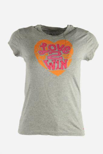Girls Nike T-Shirt Tee Short Sleeve Sports Vintage 90s  Grey  Size L