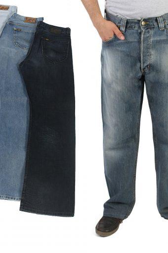 Lee Nash Mens Denim Relaxed Fit Straight Leg Jeans