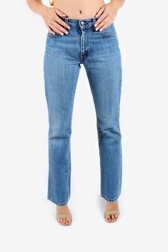 Levis 525 Bootcut Jeans Women Wash Zip Fly Flare