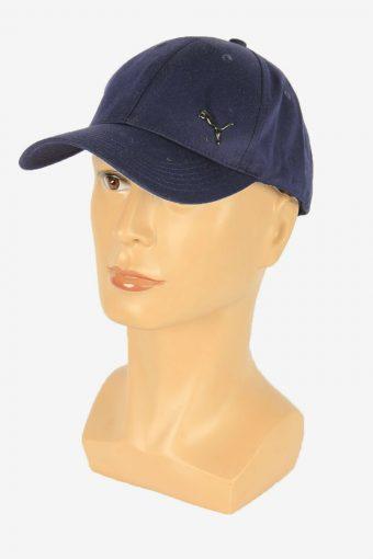 Puma Baseball Cap Adjustable Snapback Headwear 90s Vintage Retro Navy