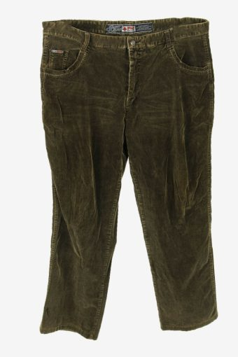 Vintage Corduroy Cord Trousers Straight Fit Casual Brown Size W38 L28