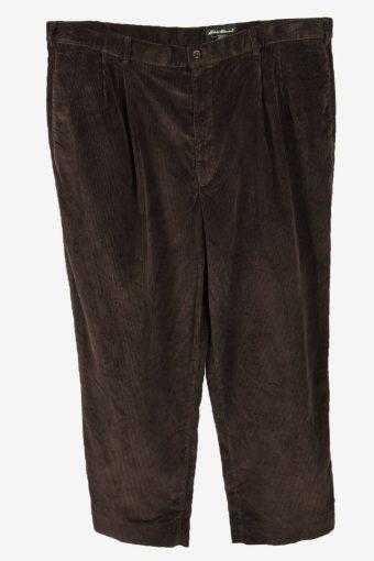Vintage Eddie Bauer Corduroy Cord Trousers Oversize Brown Size W44 L30