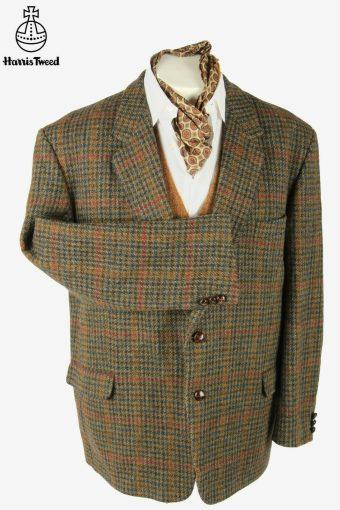 Vintage Harris Tweed Blazer Jacket Check Windowpane Multi Size XXXL