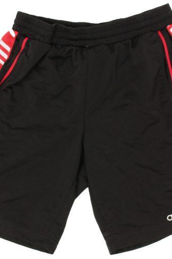 Adidas Mens Short Elasticated Waist 3 Stripes Vintage Size L Black