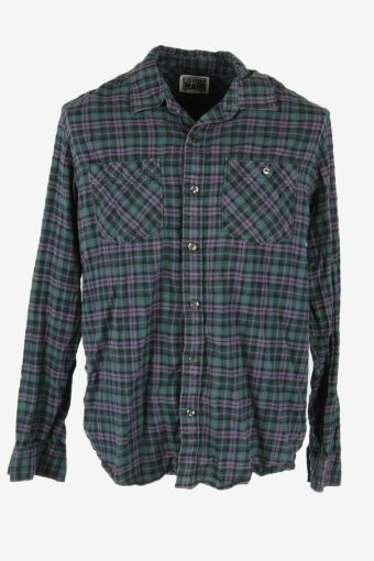 Converse Flannel Shirt Vintage Check Long Sleeve Cotton Multi Size L – SH4238