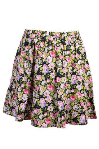 Flora Skirt Print Women High Waist Skater Swing Midi Skirt