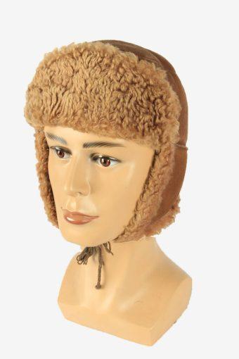 Fur Ushanka Hat Vintage Earflaps Ski Cossack 90s Brown Size 64 cm
