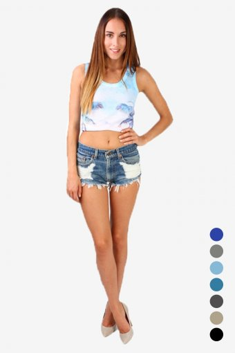 Levis High Waisted Sexy Ripped Shorts Frayed Women