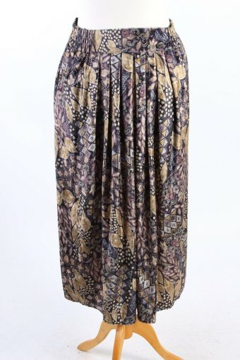 Long Printed Skirt Lined Fashionable 90s Classy Womens