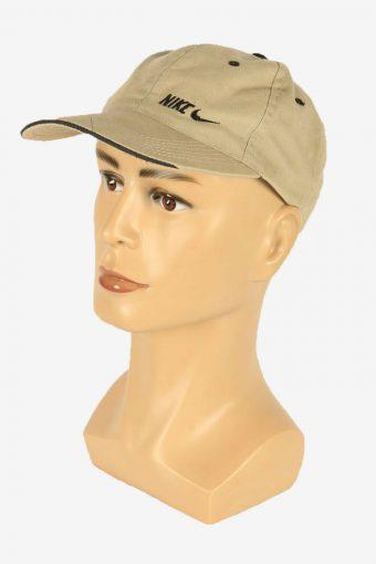 Nike Baseball Cap Adjustable Snapback Headwear 90s Vintage Retro Beige