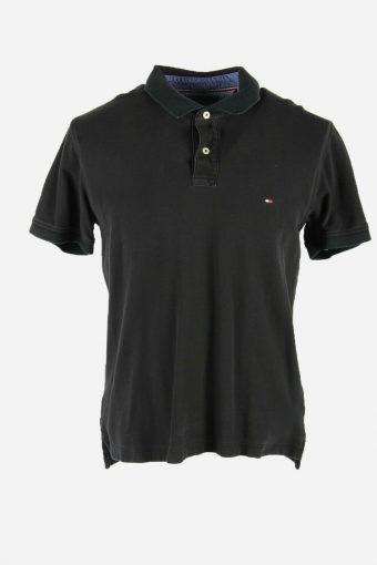 Polo Shirts Tommy Hilfiger Pique Tshirt Golf  Casual Men Black Size XL